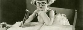 little girl, aspiring writer, editing